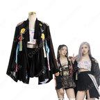 BLACKPINK(ブラックピンク) ロゼ(ROSÉ / パク・チェヨン)風 衣装 アイドル制服 黒 カーディガン ハイウエスト スカート
