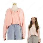 キム・ミソ(パク・ミニョン)風 パーカー(ピンク/桃色系・長袖) ショートパンツ 「キム秘書はいったい、なぜ?」衣装