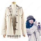 IU(アイユー)風 衣装 ギンガムチェック シャツ(長袖) ジャケット(長袖)