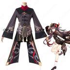 胡桃(ふーたお、Hu Tao) コスプレ衣装 原神 璃月の葬儀屋「往生堂」の七十七代目堂主 仮装・変装衣装