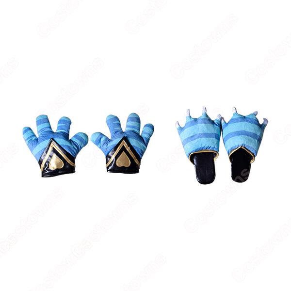 IdentityV 第五人格 傭兵(ナワーブ・サベダー) チェシャ猫 猫の爪 手袋 スリッパ コスプレ道具 【アイデンティティV 】サバイバー スキン cosplay 小物元の画像