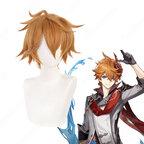 タルタリヤ(たるたりや)耐熱 ウィッグ 『原神 Genshin』 公子 コスプレ用 wig