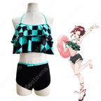 竈門炭治郎(かまどたんじろう) 水着 コスプレ衣装 【鬼滅の刃】 可愛い かっこいい ビキニセット cosplay