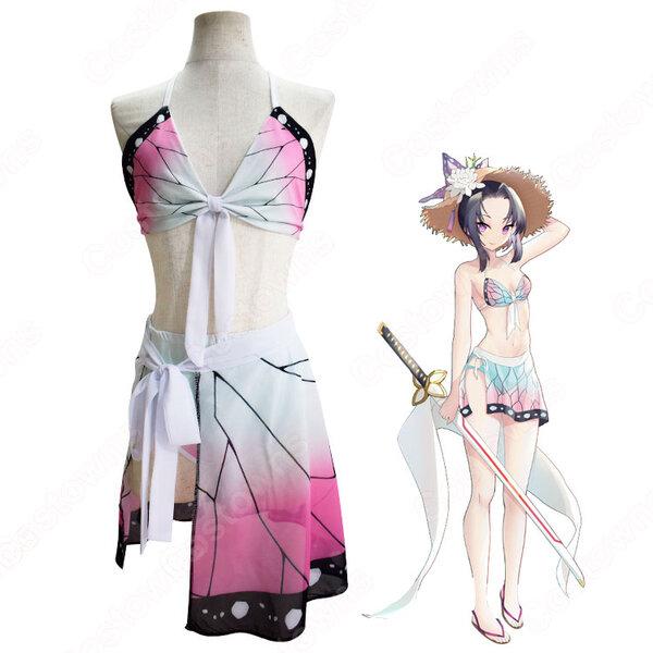 胡蝶しのぶ(こちょうしのぶ) 水着 コスプレ衣装 【鬼滅の刃】 可愛い かっこいい ビキニ cosplay元の画像