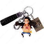 ONE PIECE キーチェーン 人形 バックパックペンダントカーキーホルダー屋内ペンダント ギア4 モンキー・D・ルフィ ウソップ バルトロメオ サンジ かわいい漫画アニメーションクリエイティブギフト