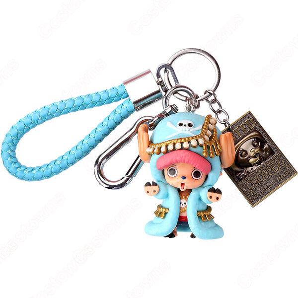 ONE PIECE キーチェーン 人形 バックパックペンダントカーキーホルダー屋内ペンダントトニートニー・チョッパー かわいい漫画アニメーションクリエイティブギフト元の画像