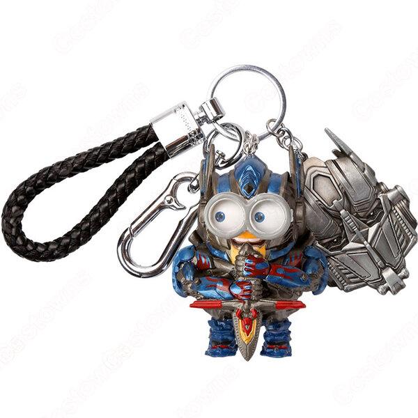 トランスフォーマー キーチェーン 人形 バックパックペンダントカーキーホルダー屋内ペンダントコンボイ バンブルビー かわいい漫画アニメーションクリエイティブギフト元の画像