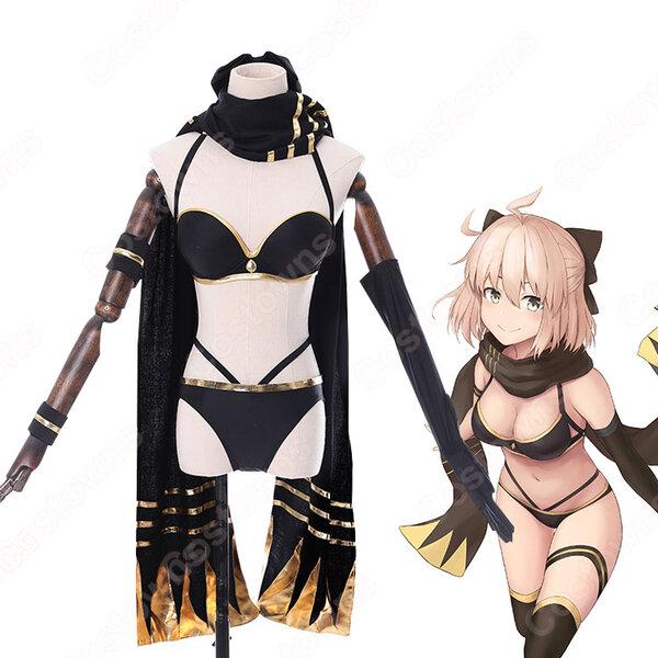沖田総司 コスプレ衣装 【Fate Grand Order】 cosplay FGO アサシン 第一段階 水着元の画像