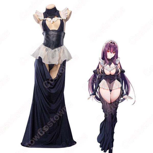 スカサハ メイド服 師匠 ドレス コスプレ衣装 【Fate/Grand Order】FGO cosplay ハロウィン クリスマス 仮装 全セット元の画像