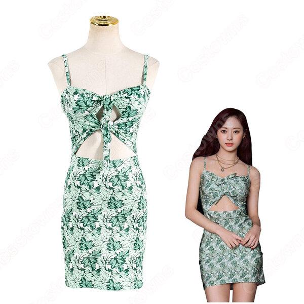 TWICE ドレス 韓国ファッション キャミワンピース レディース ノースリーブ ドレス 着痩せ セクシー ドレス 出勤 夏物 普段着元の画像