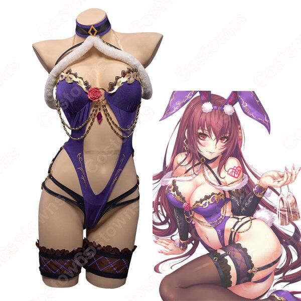 Fate FGO スカサハ バニーガール コスプレ衣装 『Fate/Grand Order』 バニースカサハ 師匠 セクシー cosplay元の画像
