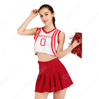 TWICE チアガール 衣装 韓国ファッション 衣装 バスケットチアガール服 ヘソ出し Tシャツ ミニスカート 上下セット 応援団 運動会 普段着 コスチューム 大人用