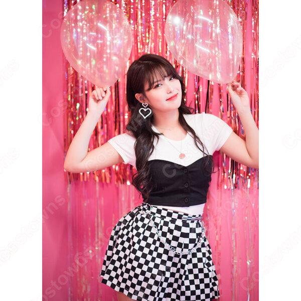 MOMOLAND(モモランド) アイン (Ahin) ジャズダンス衣装 「Show Me」 MVダンス服 韓国 アイドルスタイル トップス スカート セット コスプレ ダンス服元の画像