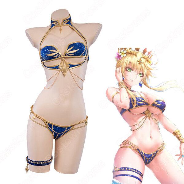 Fate FGO 水着獅子王 コスプレ衣装 『Fate/Grand Order』(フェイト・グランドオーダー)アルトリア・ペンドラゴン(アーサー王) ビキニ 水着 cosplay 仮装 変装元の画像