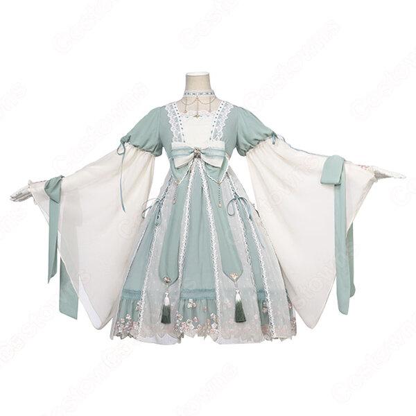 ロリータ ワンピース 漢服 コスプレ衣装 中華ロリータ チャイナ風スカート 学園祭 文化祭 日常着元の画像
