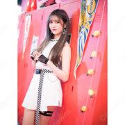 ジェイン(Jane) ジャズダンス衣装 「Show Me」 MVダンス服 MOMOLAND(モモランド) コスプレ衣装 韓国 アイドルスタイル ダンス服 へそ出し トップス スカート 上下セット