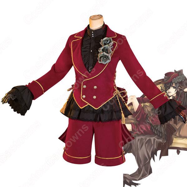 黒執事 シエル・ファントムハイヴ コスプレ衣装 くろしつじ 赤 コスプレ衣装 仮装元の画像