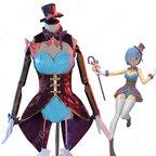 リゼロ レム マジシャン コスプレ衣装『Re:ゼロから始める異世界生活(りぜろからはじめるいせかいせいかつ)』奇術師 レザージャケット バニーガール cosplay 仮装 変装