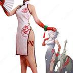 ニェン 楽逍遥 チャイナドレス コスプレ衣装 『アークナイツ/Arknights』 新コーデ cosplay 仮装 変装