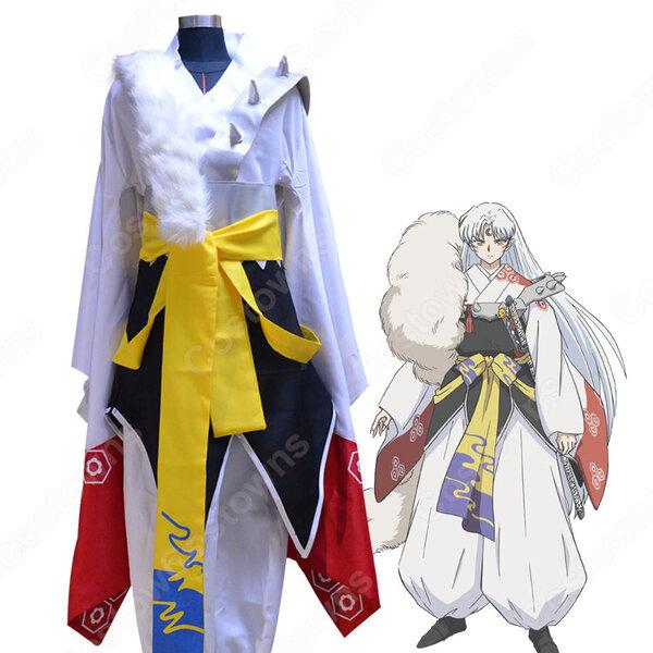殺生丸(せっしょうまる)着物 コスプレ衣装 『犬夜叉(いぬやしゃ)』きもの cosplay 仮装 変装元の画像