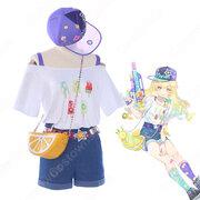 霧雨魔理沙(きりさめまりさ) 夏 日常服 コスプレ衣装 『東方Project』(とうほうプロジェクト) cosplay 仮装 変装