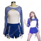 BLACKPINK LISA ジャズダンス衣装『Forever Young』リサ MVダンス服 仮装 アイドルスタイル衣装 韓国ファッション ステージ衣装 K-POP ジャズ団体服 日常着 トップス 半ズボン セット