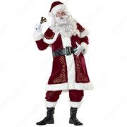 クリスマス サンタ衣装 サンタクロース コスプレ衣装 メンズ クリスマス衣装 サンタ テーマパーティー衣装
