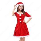 クリスマス衣装 クリスマスパーティー レディース セクシー衣装 ワンピース サンタ コスプレ衣装