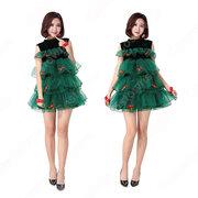 クリスマスドレス クリスマスツリー コスプレ衣装 サンタクロース ワンピース レディース 可愛い 衣装
