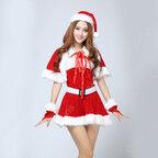 サンタ衣装 クリスマスパーティー衣装 レディース ワンピース セクシー ミニスカ クリスマス コスプレ衣装