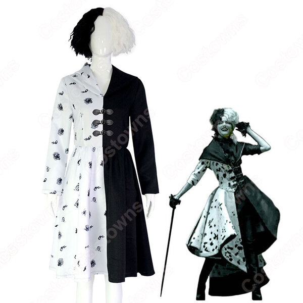 エステラ/クルエラ コスプレ衣装 『クルエラ』『101匹わんちゃん』 悪役クルエラ・ド・ヴィル cosplay 仮装 変装元の画像