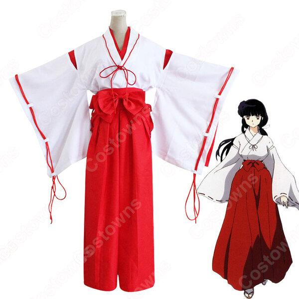 桔梗(ききょう) 巫女服 コスプレ衣装 『犬夜叉(いぬやしゃ)』 cosplay 仮装 変装元の画像