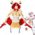白猫プロジェクト×リゼロ ラム クリスマス衣装 コスプレ衣装『Re:ゼロから交わる白猫生活2』 cosplay 仮装 変装